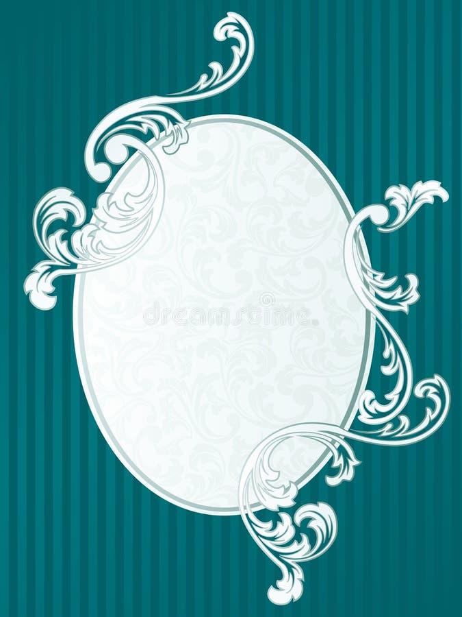 Frans retro frame in groen vector illustratie