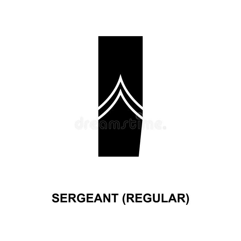 Frans sergeant regelmatig militair rangen en insignes glyph pictogram vector illustratie