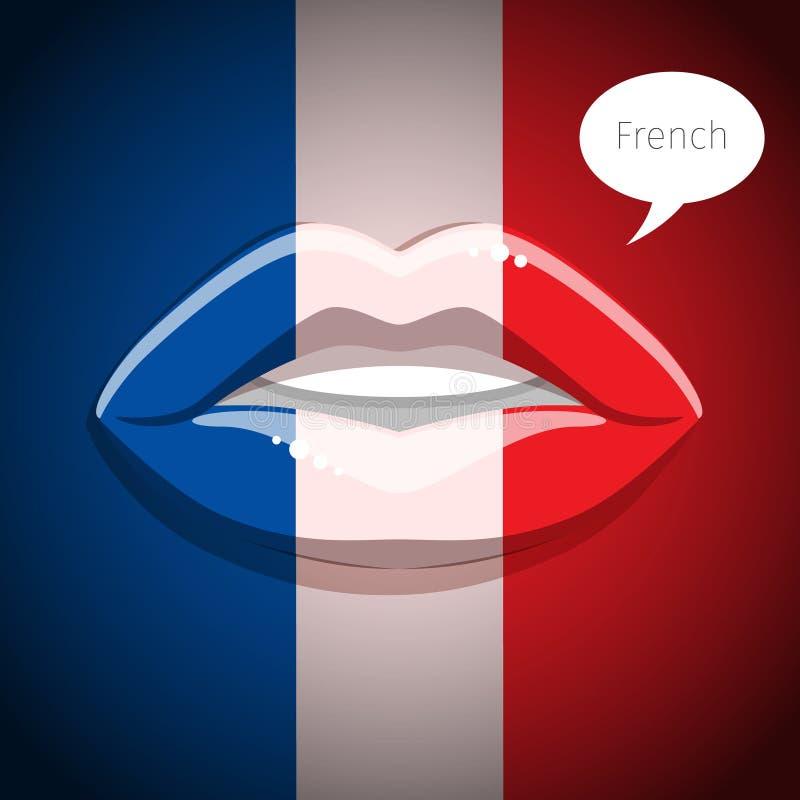 Frans taalconcept vector illustratie