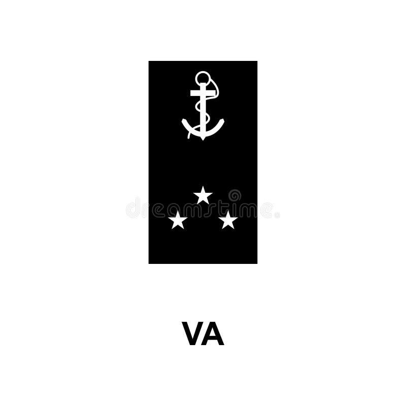 Frans va militair rangen en insignes glyph pictogram stock illustratie