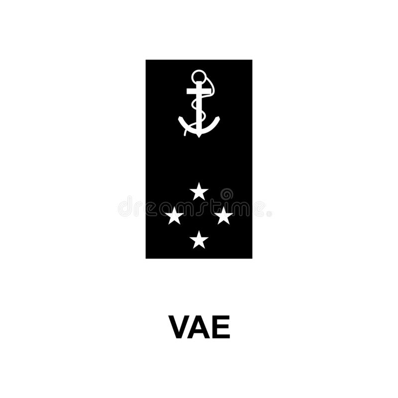 Frans vae militair rangen en insignes glyph pictogram stock illustratie