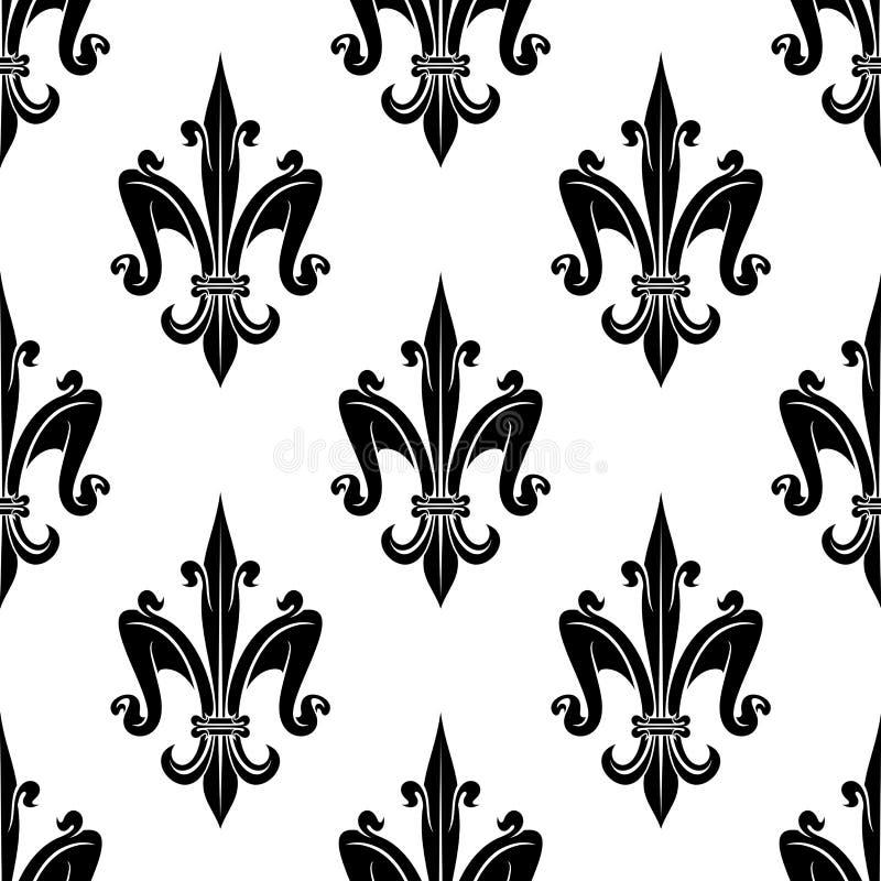 Frans victorian naadloos patroon fleur-DE-lis royalty-vrije illustratie