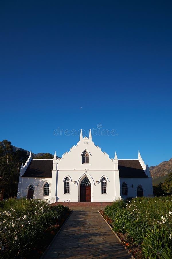 Franschhoek-Colonial-Kirche lizenzfreie stockbilder