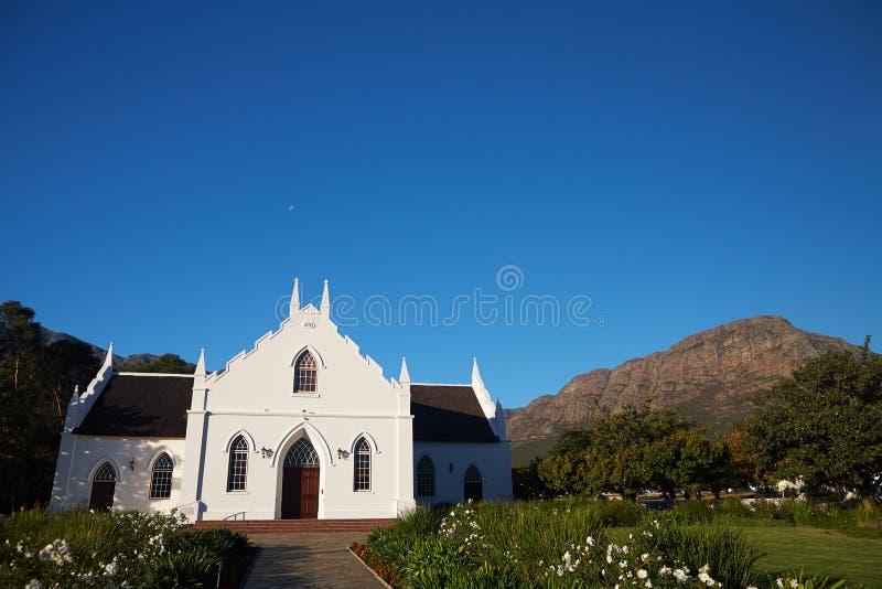 Franschhoek-Colonial-Kirche lizenzfreies stockbild