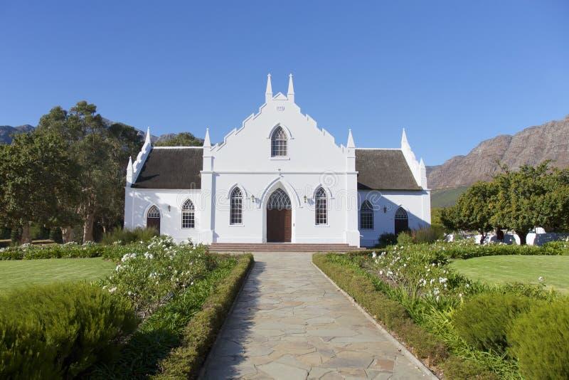 Franschhoek kościół, Kapsztad, Południowa Afryka zdjęcia royalty free