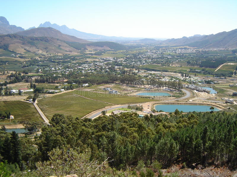 Franschhoek royalty free stock image