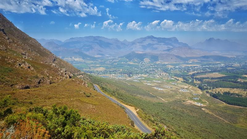 Franschhoek Pass viewing royalty free stock images
