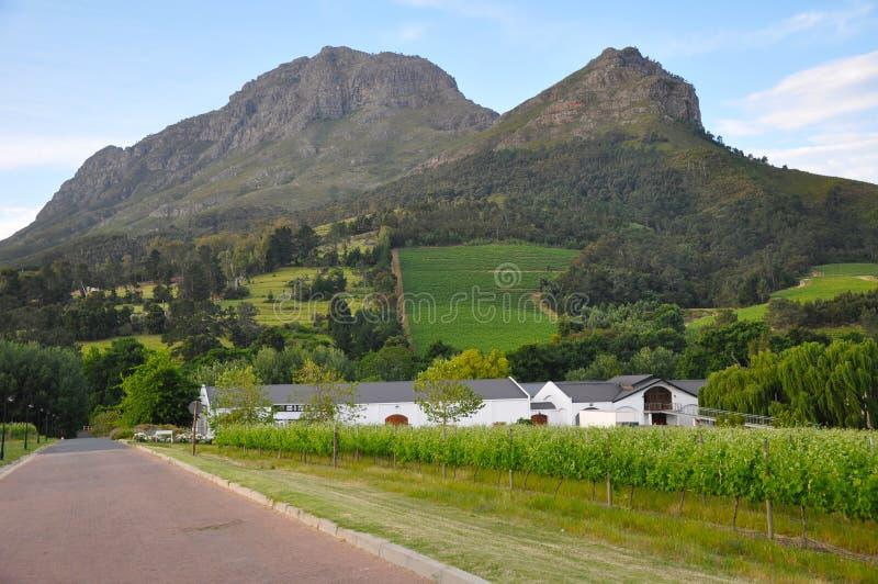 Franschhoek winelands home south africa stock photos