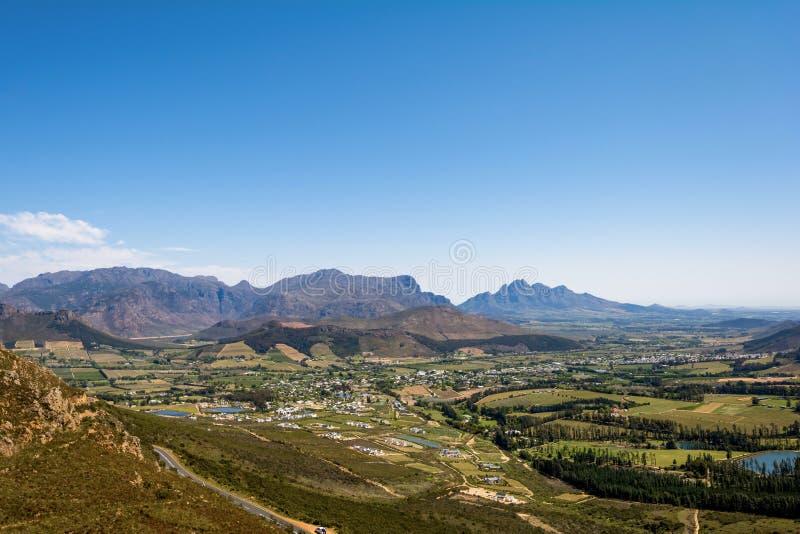 Franschoek wina region blisko do Kapsztad, Południowa Afryka zdjęcie stock