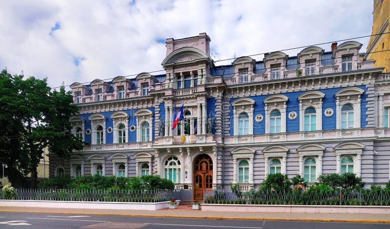 Franse Ambassade, Riga stock foto's