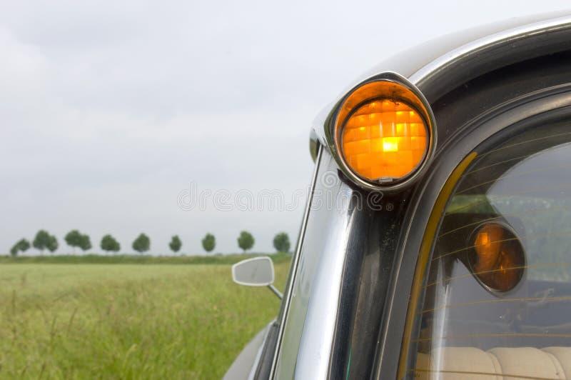 Franse Auto in Nederlands Landschap royalty-vrije stock foto