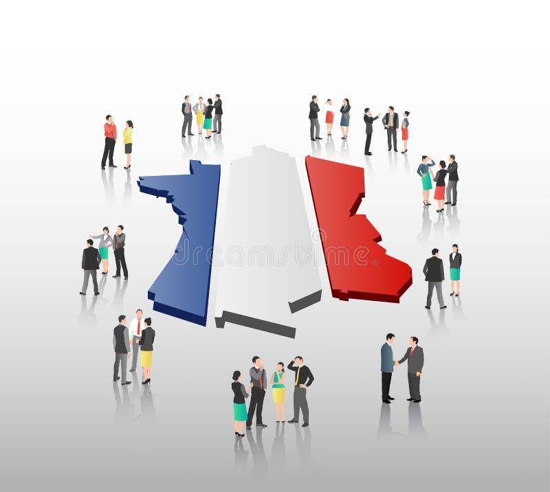 Franse bedrijfsvector met beroeps vector illustratie