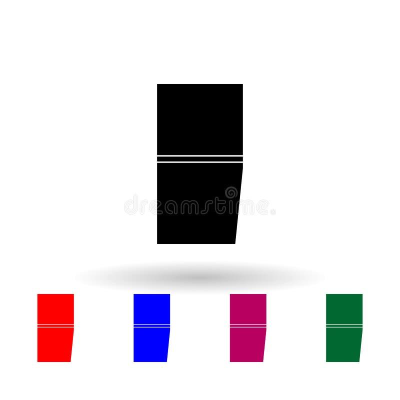 Franse bevelhebber 2e militaire rang en insignia multi-color icon Eenvoudige glyph, platte vector van Ranks in de Franse pictogra stock illustratie