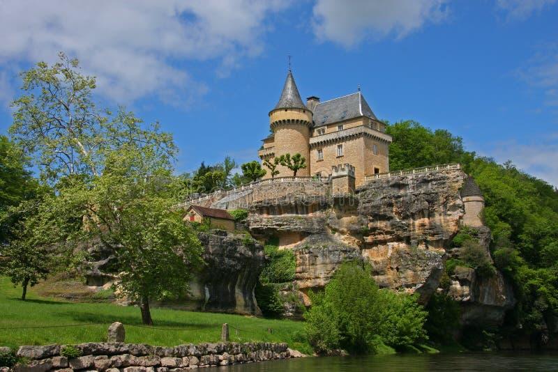 Franse chateau royalty-vrije stock fotografie
