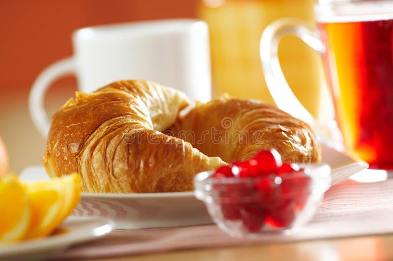 Franse croissant stock afbeelding