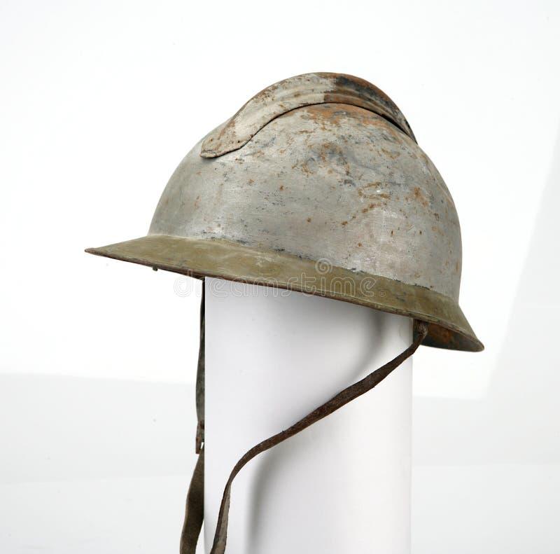 Franse helm van de eerste wereldoorlog, Adrian Spaanse Burgeroorlog royalty-vrije stock foto's