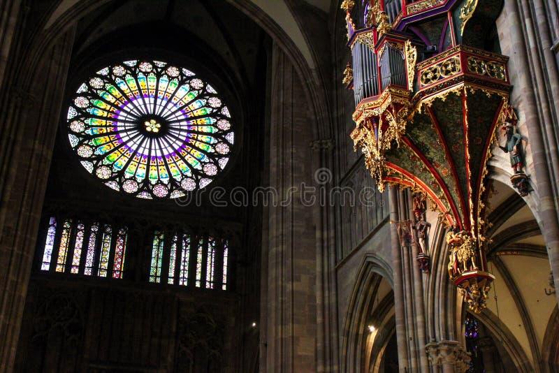 Franse Kathedraal royalty-vrije stock fotografie