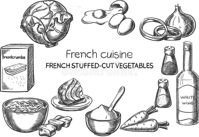Franse keuken royalty-vrije illustratie