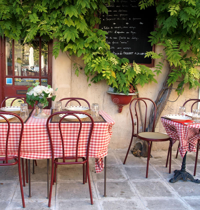 Franse koffie in de Provence stock foto
