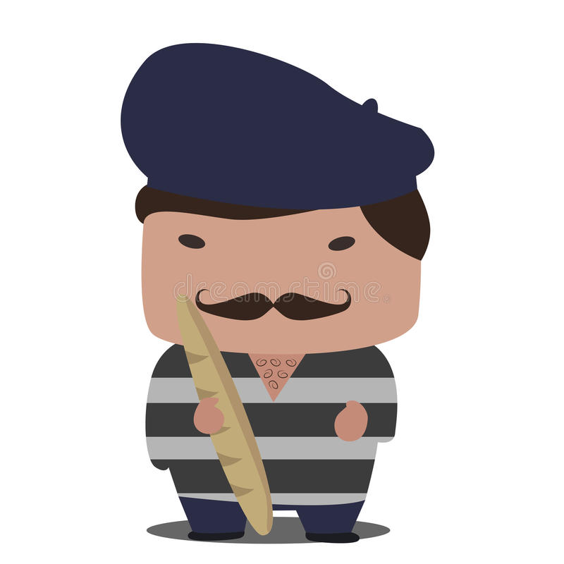 Franse mascotte vector illustratie