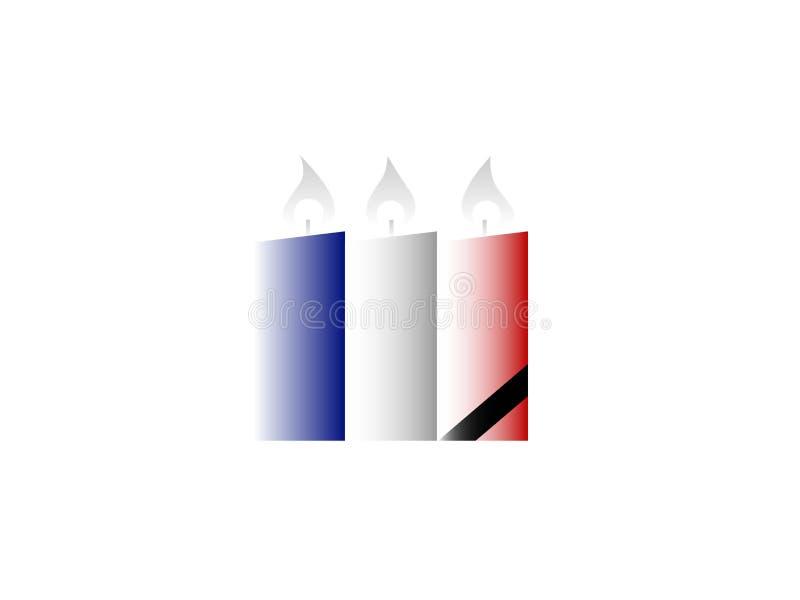 Franse nationale tragedie Geïsoleerdj op witte achtergrond stock foto's