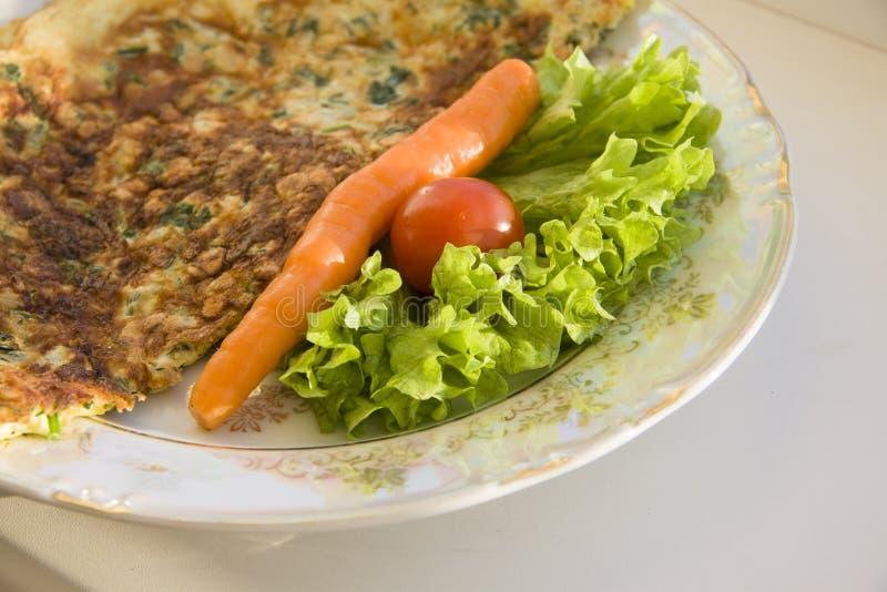 Franse omelet stock afbeelding