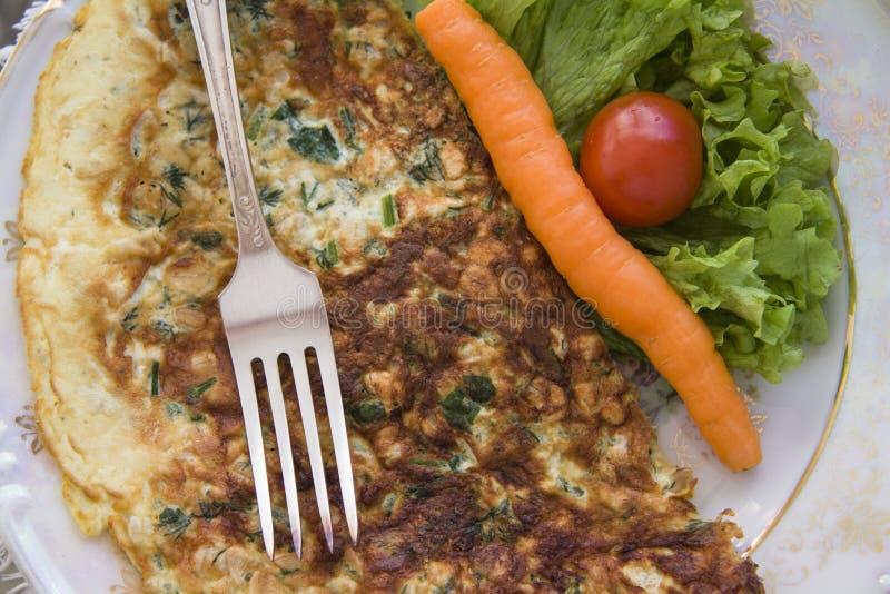Franse omelet met groenten royalty-vrije stock fotografie