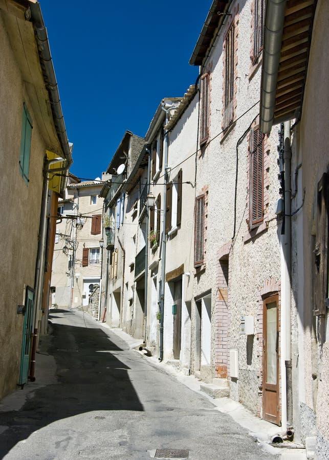Franse oude stadsstraat stock fotografie