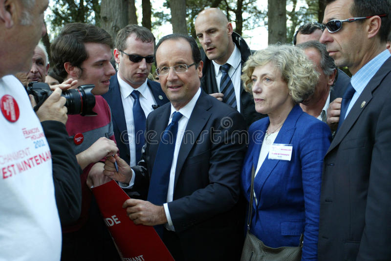 Franse politicus Francois Hollande royalty-vrije stock fotografie