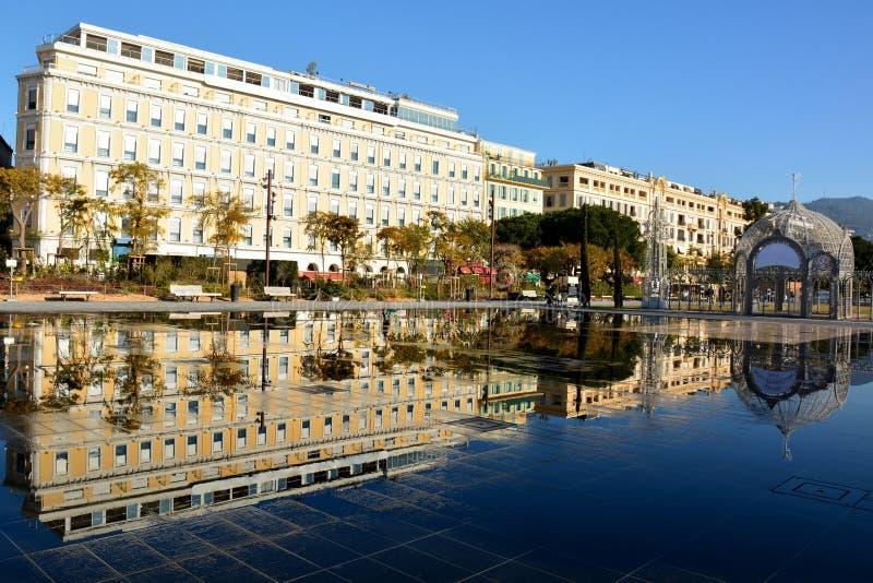 Franse Riviera, de stad van Nice, Groene Cursus, ` coulée verte ` royalty-vrije stock foto