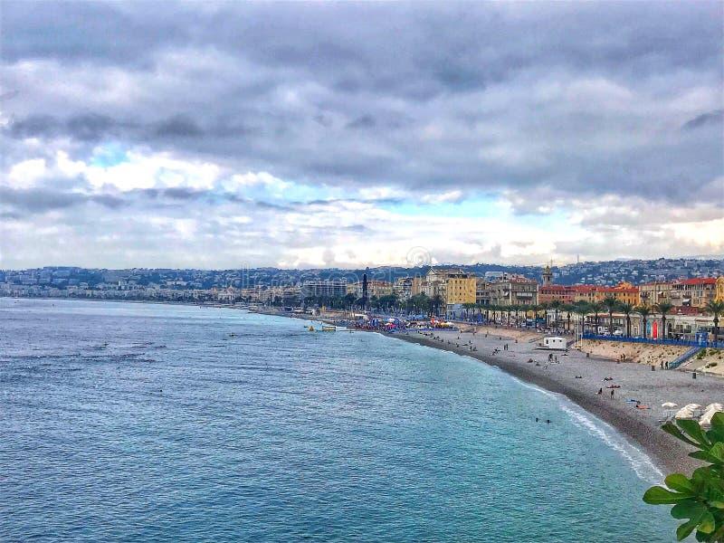 Franse riviera Nice '18 royalty-vrije stock afbeelding