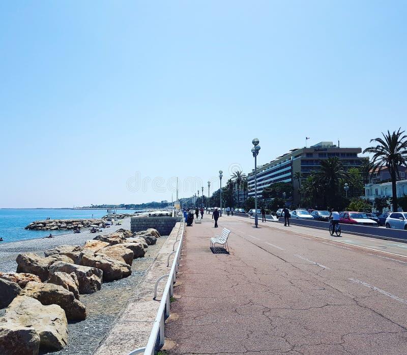 Franse riviera van Nice royalty-vrije stock fotografie