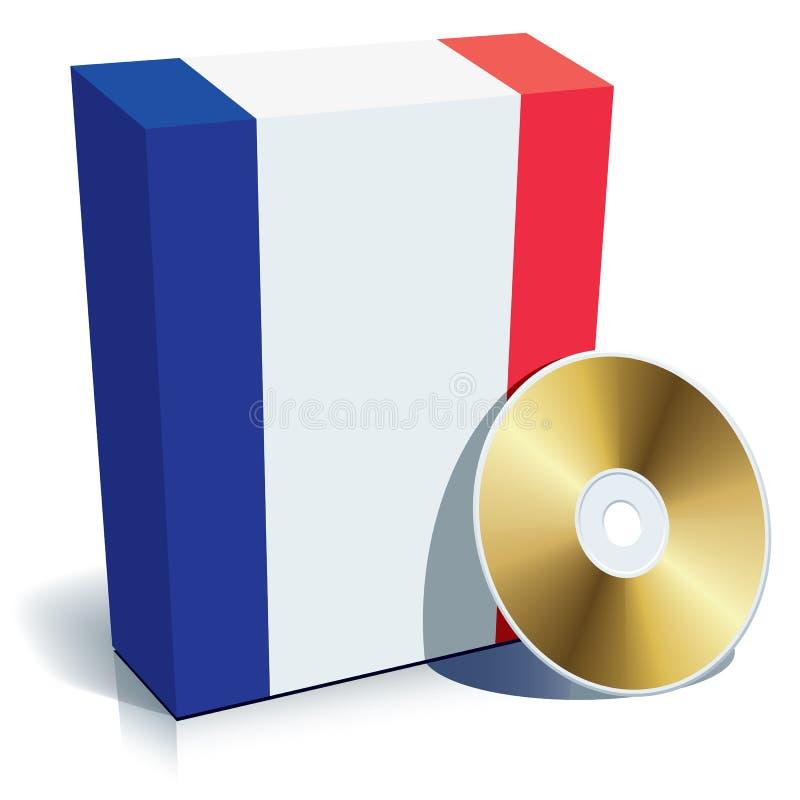 Franse softwaredoos en CD royalty-vrije illustratie