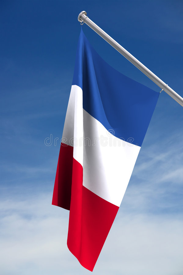 Franse Vlag stock illustratie