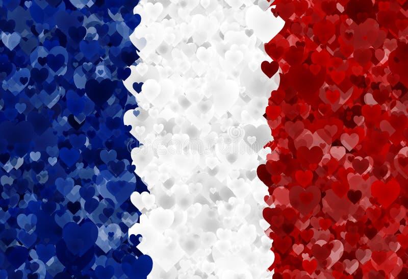 Franse vlag royalty-vrije illustratie
