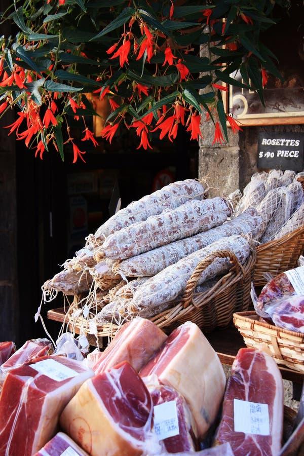 Franse vleesmarkt stock afbeelding