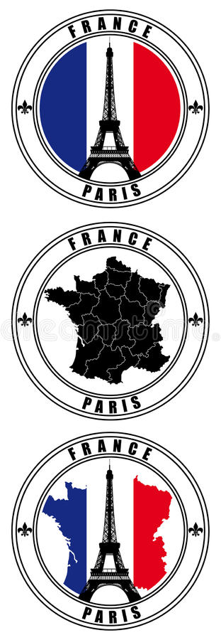 Franse Zegel royalty-vrije illustratie