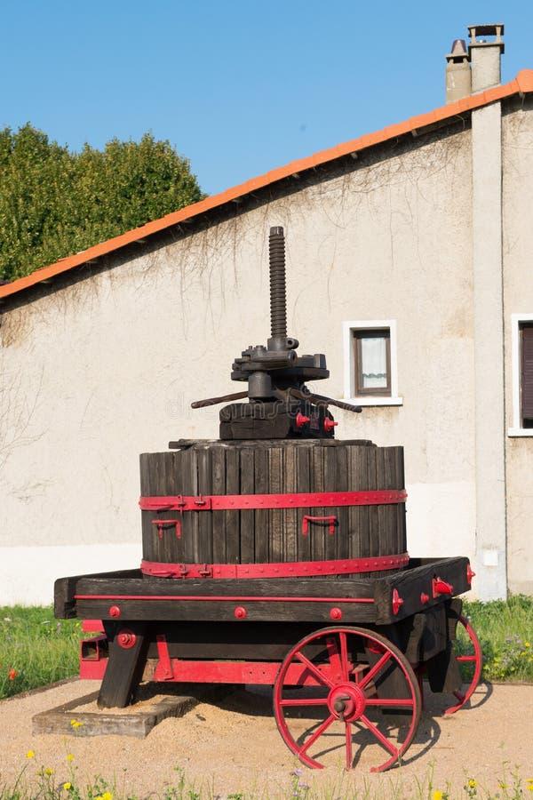 Fransk druvapress arkivbilder