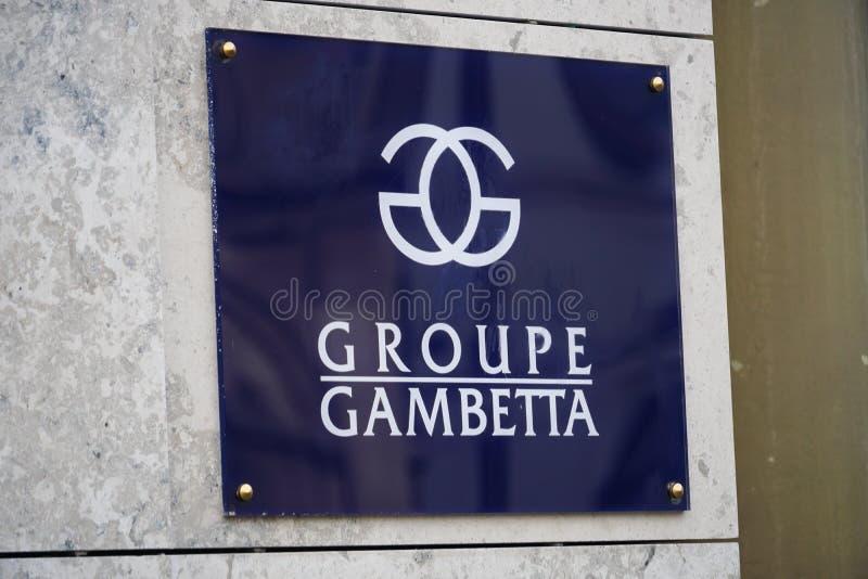 Fransk fastighetbyrå Groupe Gambetta arkivfoto