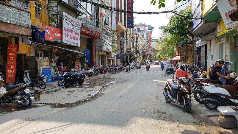 Fransk fjärdedel i Hanoi royaltyfri foto