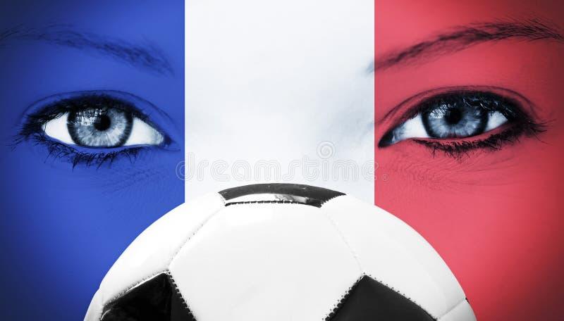Fransk fotbollfan royaltyfria foton