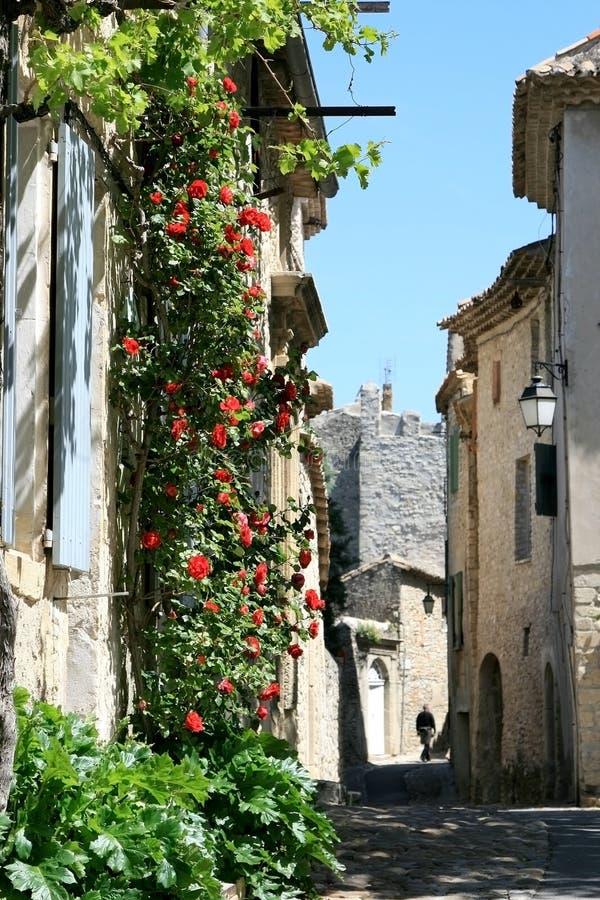 fransk gammal romantisk rogatatown arkivfoton