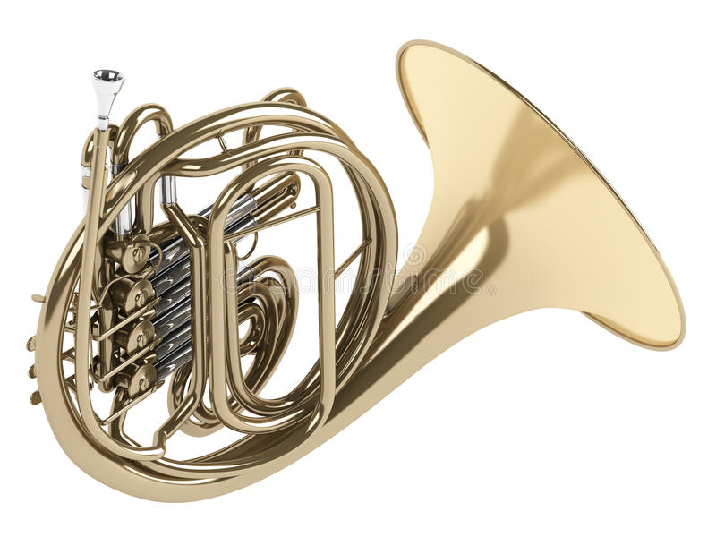 fransk horn vektor illustrationer