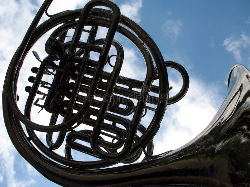 fransk horn royaltyfri bild