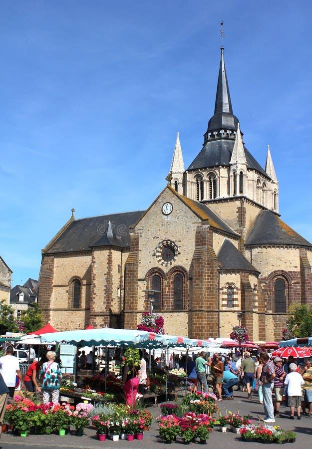 Fransk jordbruksproduktermarknad arkivfoto