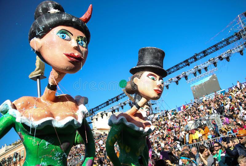 Fransk karneval av Nice arkivfoto