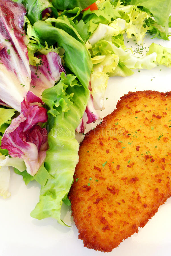 Fransk kokkonst Cordon bleu, feg maträtt royaltyfria foton