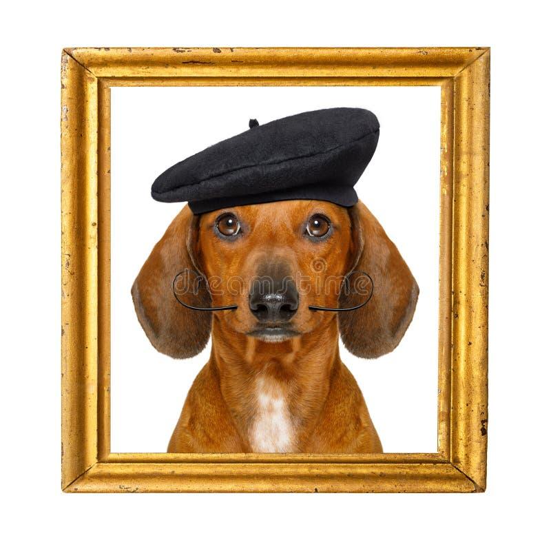 Fransk korvhund fotografering för bildbyråer