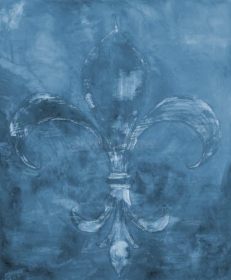 Fransk liljabakgrund arkivbild
