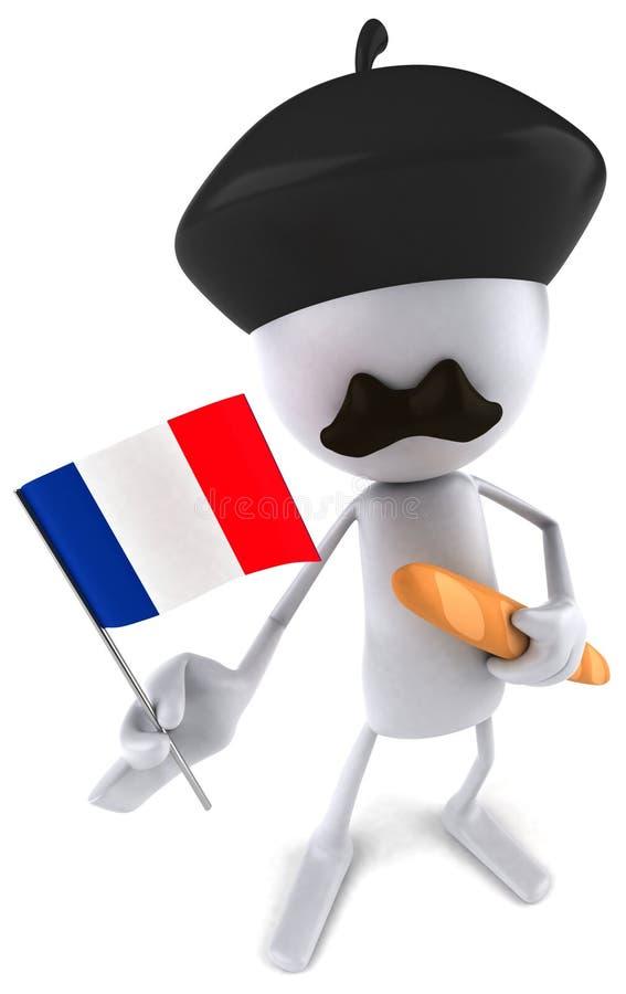 fransk man stock illustrationer